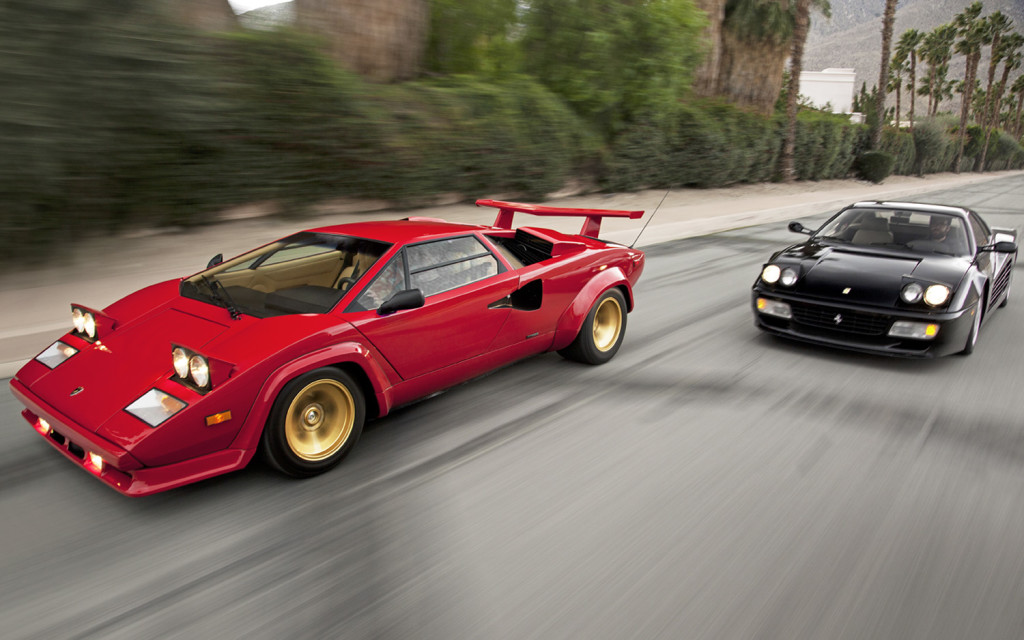 1988 Lamborghini Countach & 1993 Ferrari 512 TR